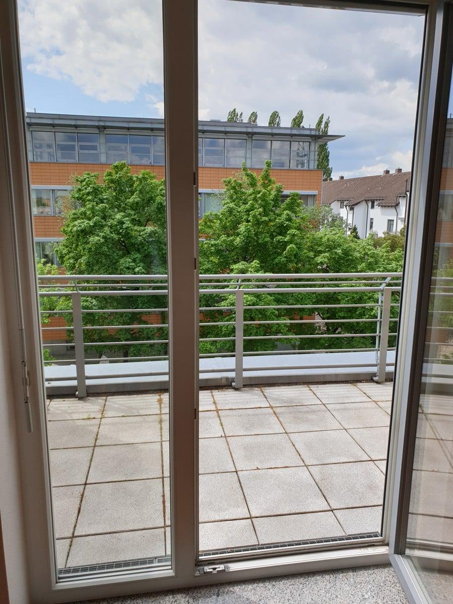 Ausgang Balkon vom Schlafzimmer